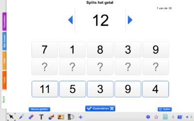 Bedwelming Kleuters digitaal! Splitsen tot 10 en 20 - Kleuters digitaal! @PZ02