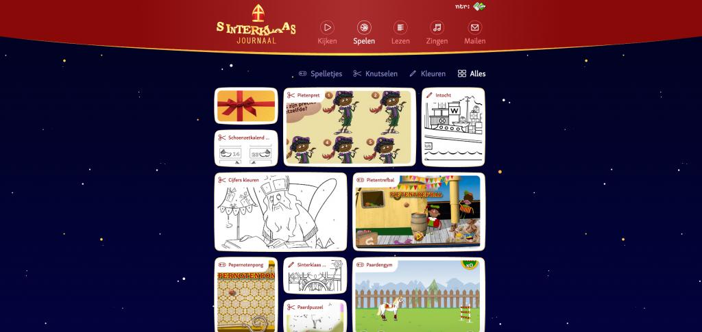 Kleuters Digitaal Sinterklaasjournaal Spelletjes