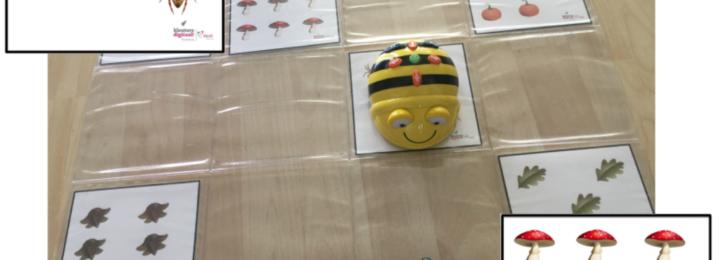 Op de Bee Bot kun je ook in de herfst weer rekenen!
