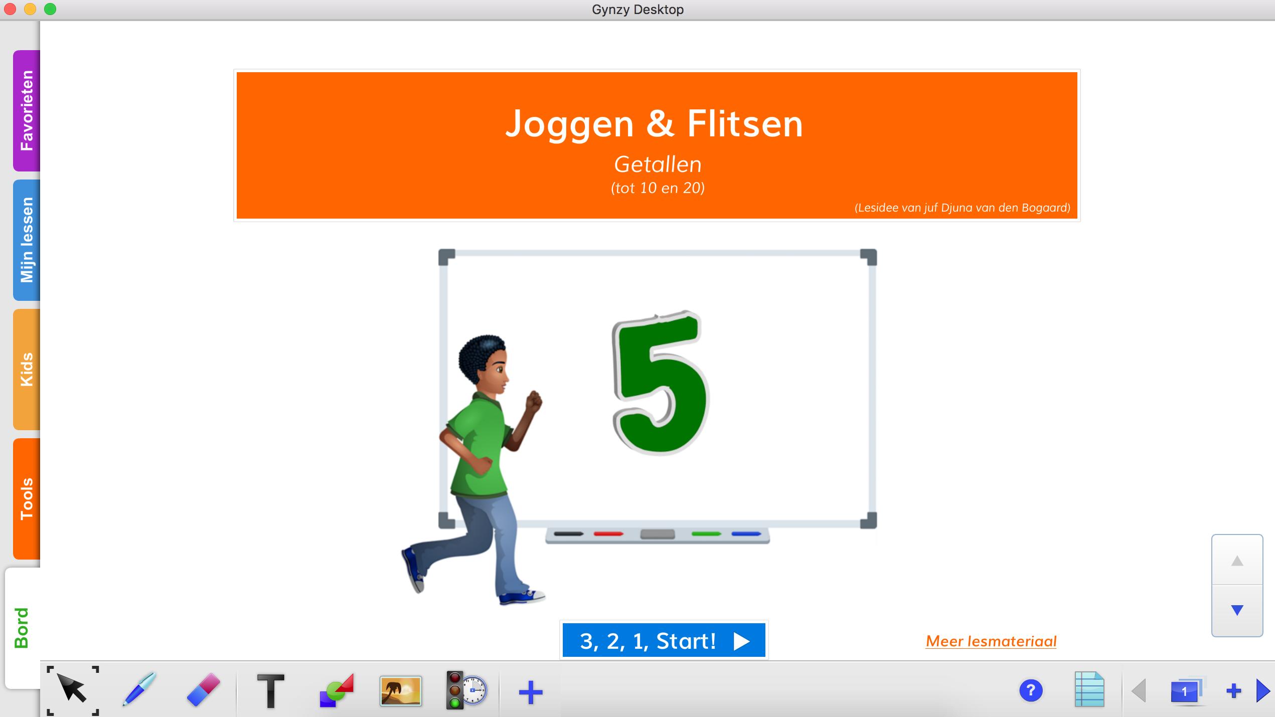 Hedendaags Kleuters digitaal! Bewegend de cijfers met Gynzy leren! - Kleuters YW-64