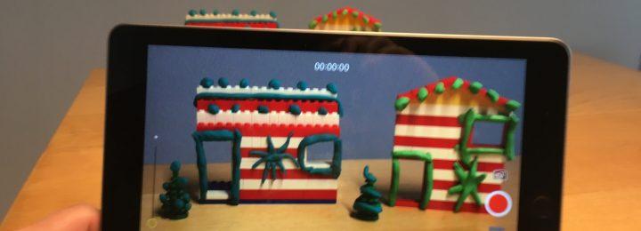 Een knipperend kersthuisje!