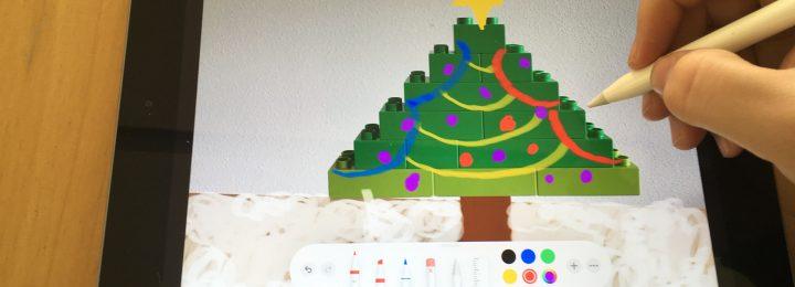 Teken over de kerstboom!