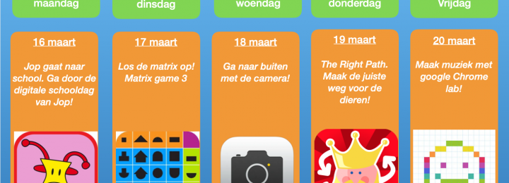 Thuis oefen bingo! Samen digitaal aan de slag! Week 1