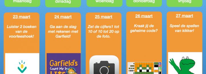 Thuis oefen bingo! Samen digitaal aan de slag! Week 2