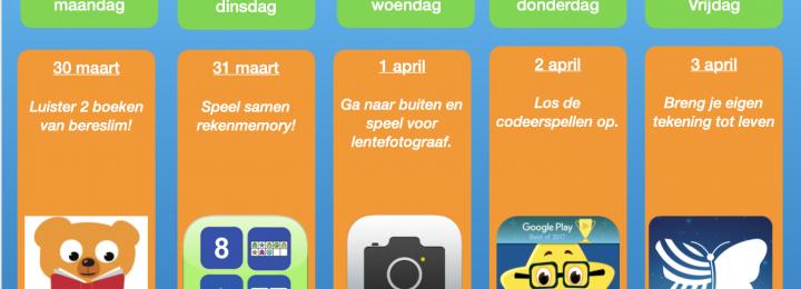 Thuis oefen bingo! Samen digitaal aan de slag! Week 3
