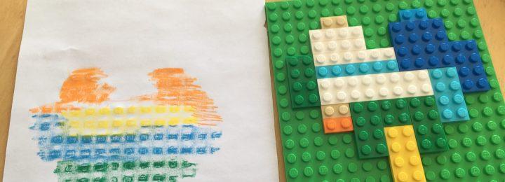 Reliëf tekenen met Lego!