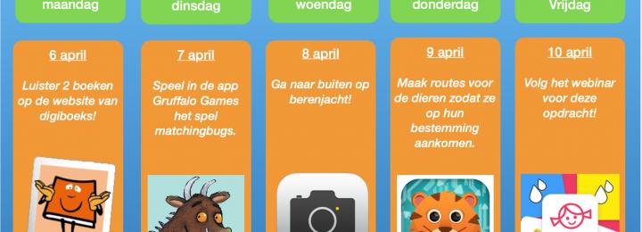 Thuis oefen bingo! Samen digitaal aan de slag! Week 4