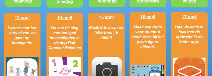 Thuis oefen bingo! Samen digitaal aan de slag! Week 5
