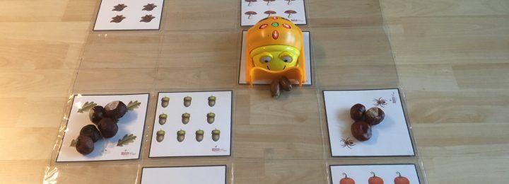 Bee Bot Rekenen met herfstmaterialen!