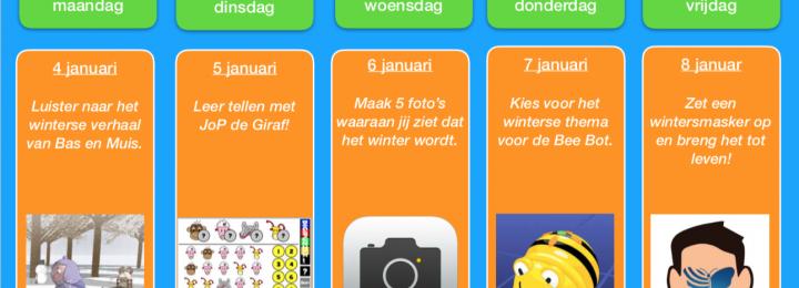 Thuis oefen bingo! Januari – week 1