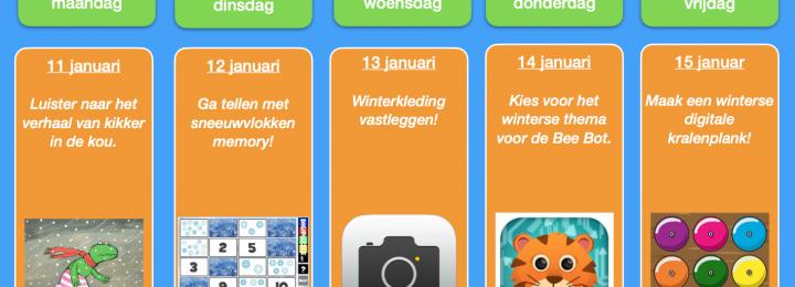 Thuis oefen bingo! Januari – week 2