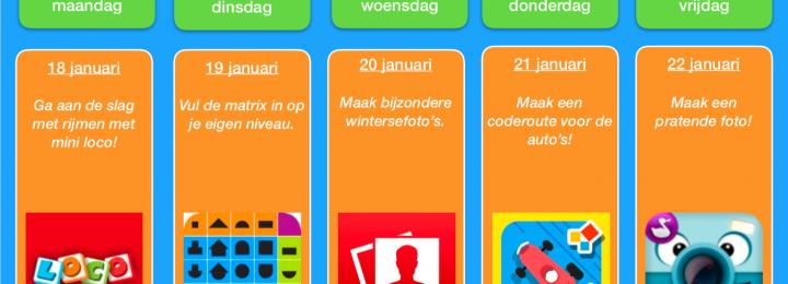 Thuis oefen bingo! Januari – week 3