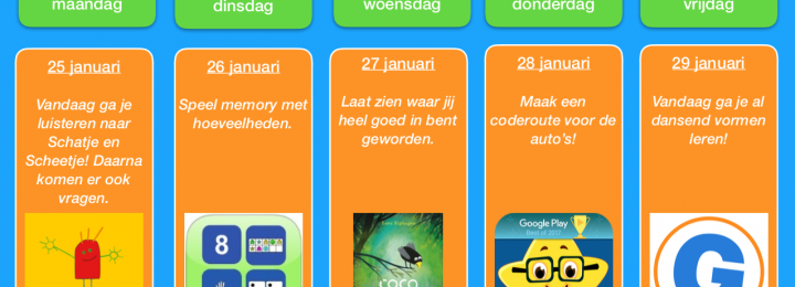 Thuis oefen bingo! Januari – week 4